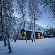 Architect Mark de Reus designs spruce-clad home for his family in rural Idaho