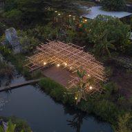MIA Design Studio creates pavilion designed to look like a giant pile of straw