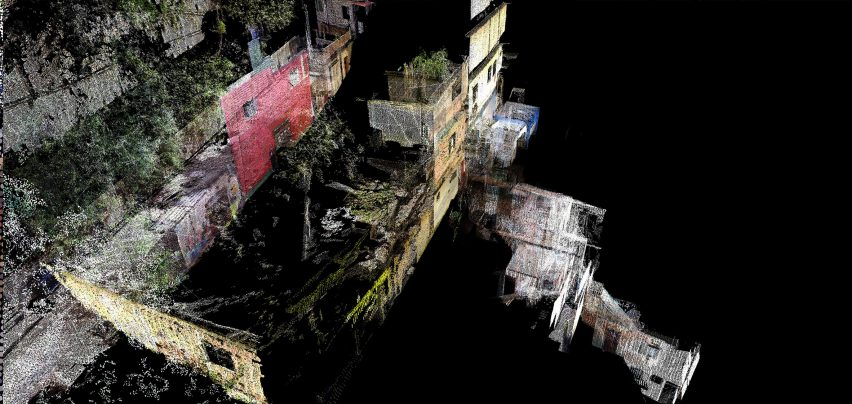 Colourful shapes define the favela's dataset