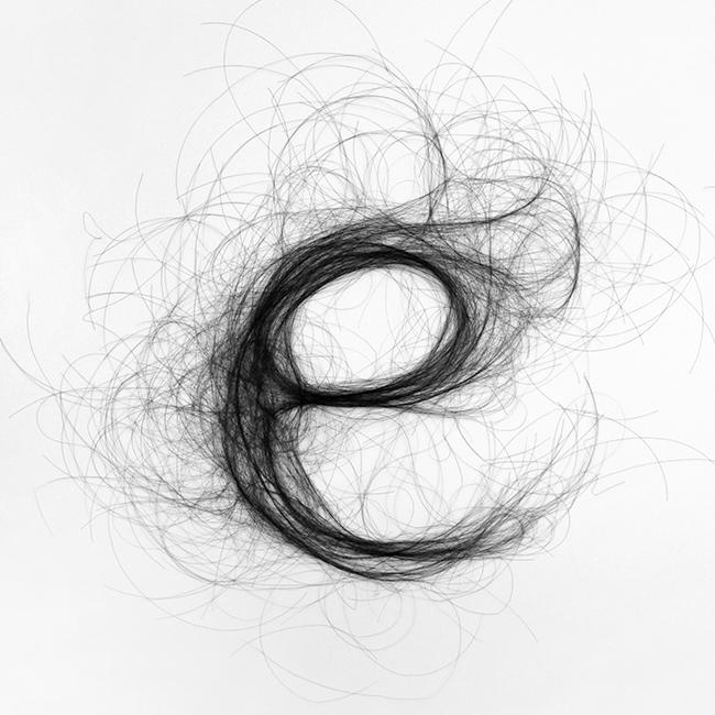 Monique Goossens used hair in her designs