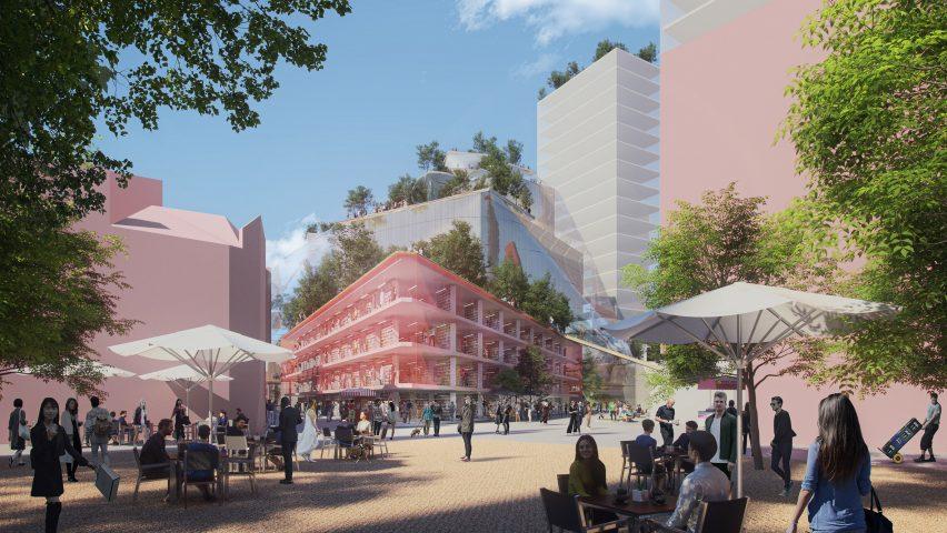 Render of Heuvel shopping centre by MVRDV