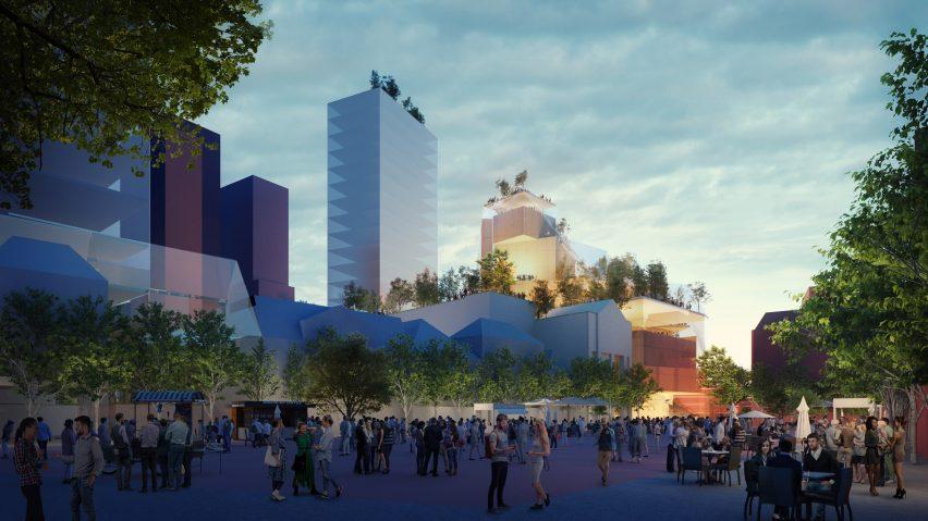 MVRDV rendering of Heuvel shopping centre transformation