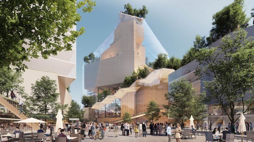 Glass music mountain planned for Eindhoven Muziekgebouw