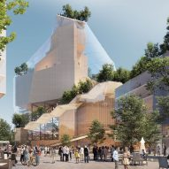 """MVRDV to transform Eindhoven's Heuvel shopping centre with glass """"Music Mountain"""""""