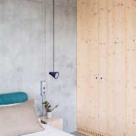 Wood panelling also covers the walls of bedrooms