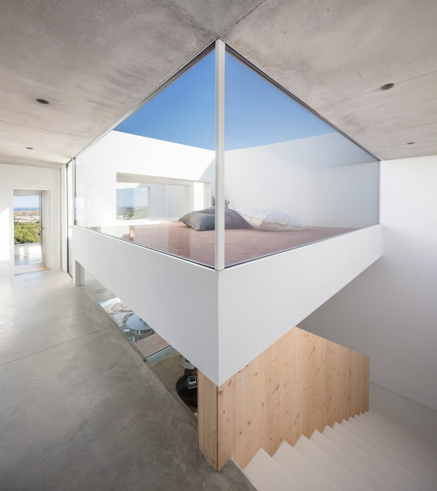 Curved House is comprised of multiple levels