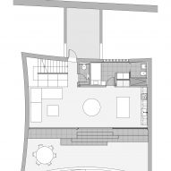 Curved House lower floor plan