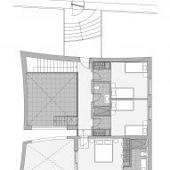 Curved House Upper floor plan