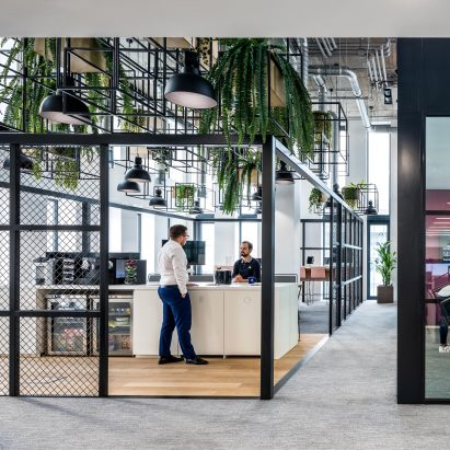 An interior of a tech hub in Budapest by Perkins&Will