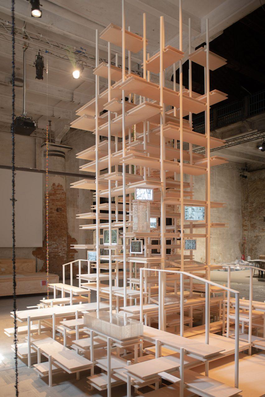 One Open Tower by Nicolas Laisnè at Venice Architecture Biennale
