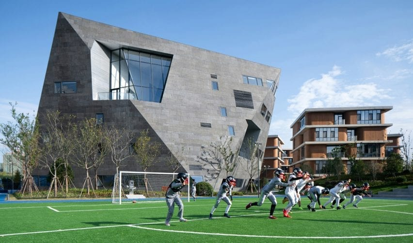 Arts Centre at Shanghai Qingpu Pinghe International School by Open Architecture