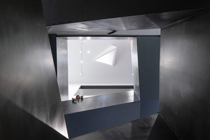 Interior of Arts Centre at Shanghai Qingpu Pinghe International School by Open Architecture