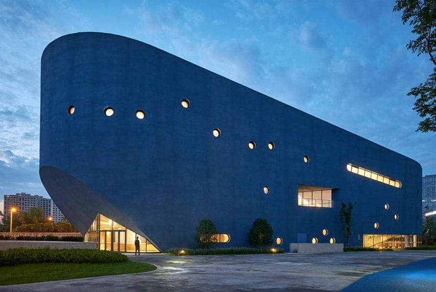 Bibliotheater at Arts Centre at Shanghai Qingpu Pinghe International School by Open Architecture
