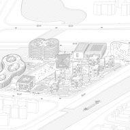 3D diagram of Shanghai Qingpu Pinghe International School by Open Architecture