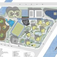 Site plan of Shanghai Qingpu Pinghe International School by Open Architecture