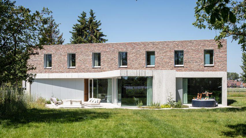 The home has a brick exterior