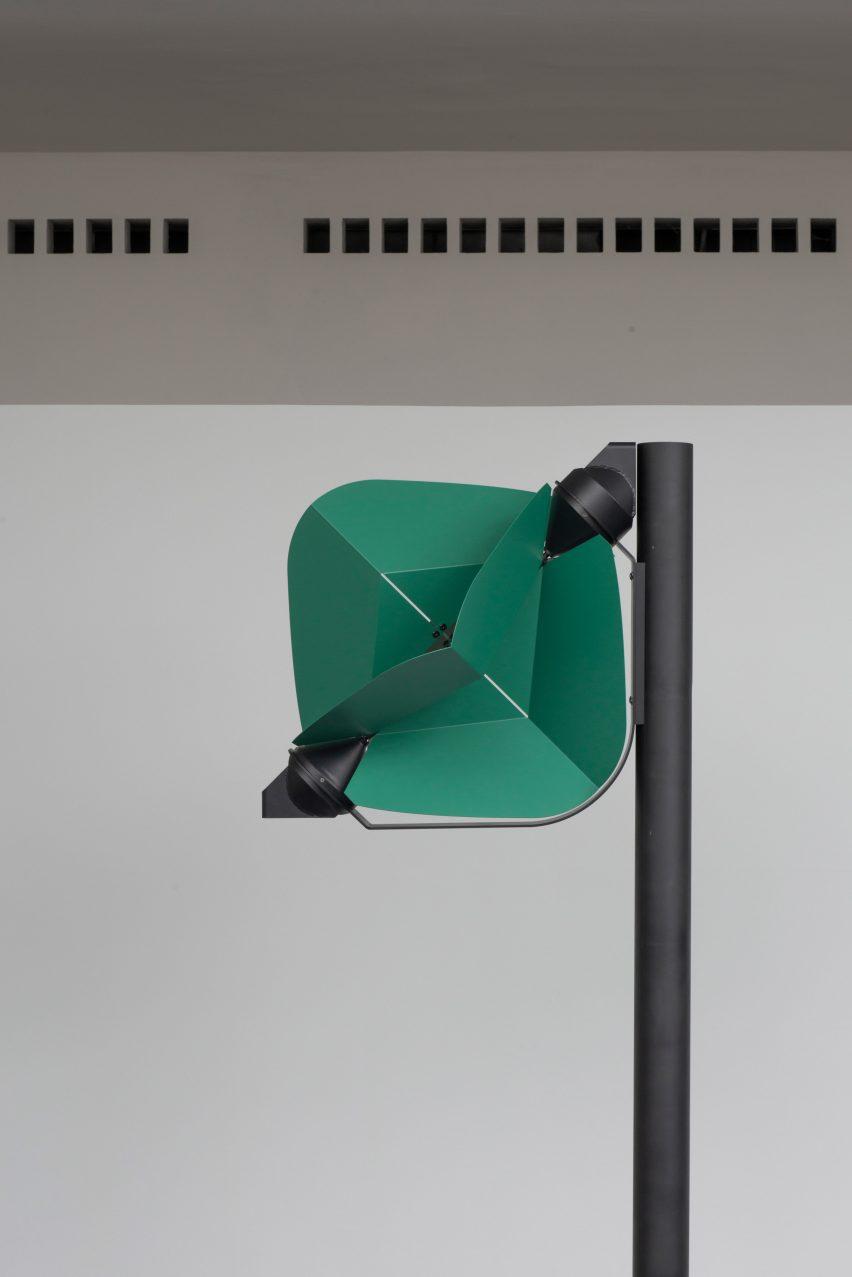 Freestanding wind-powered street light by Tobias Trübenbacher