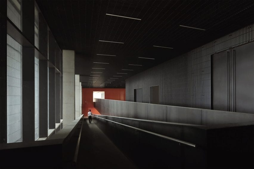 Interior of Pingshan Art Museum by Vector Architects