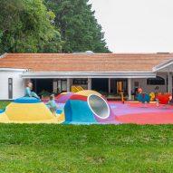 Studio Dlux includes colourful playground in Brazilian school conversion