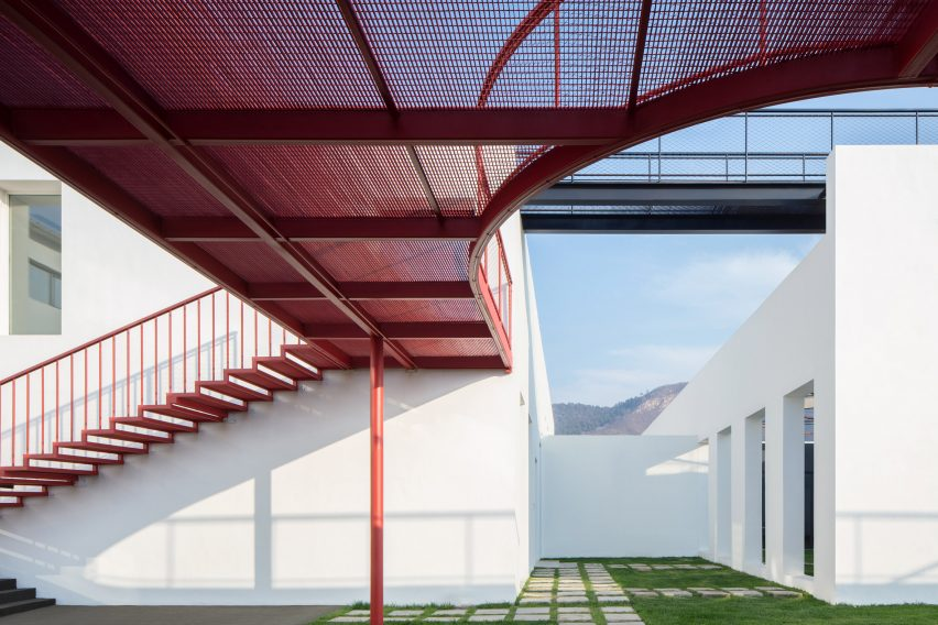 A courtyard of The Youth Activity Center in China