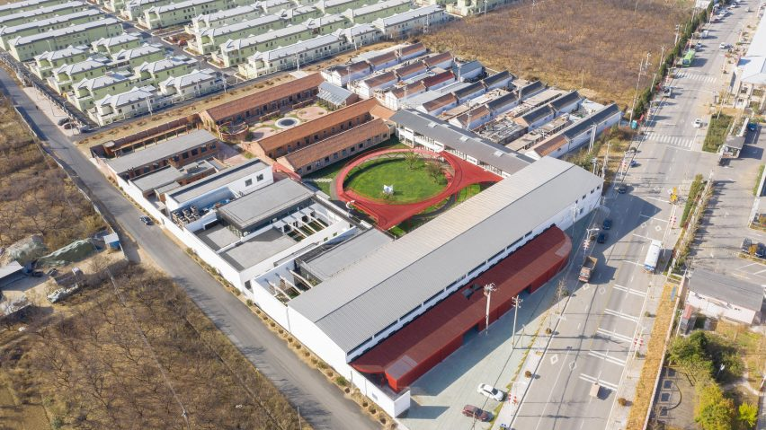 dezeen.com - Old factory buildings transformed into The Youth Activity Center in China