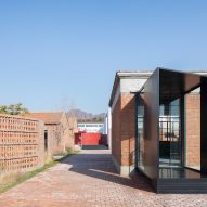 Red brick buildings at a youth centre in China