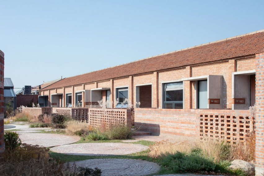 Converted factory buildings made from brick