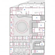 Plan of The Youth Activity Center by Rede Architects and Moguang Studio