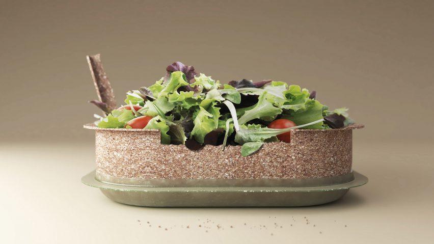 Reuse edible salad bowl