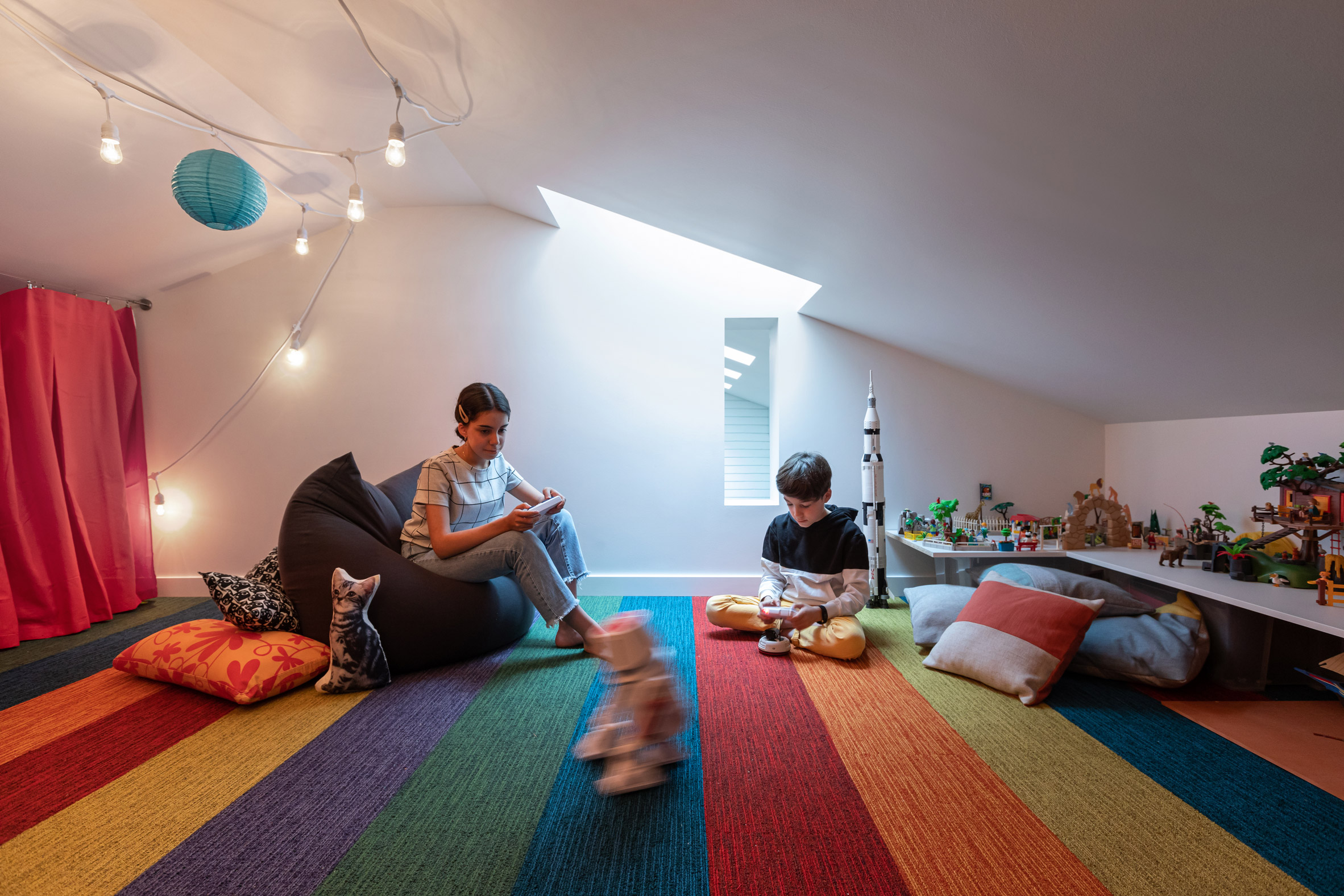 RSAAW converted the property's attic into a cosy playroom