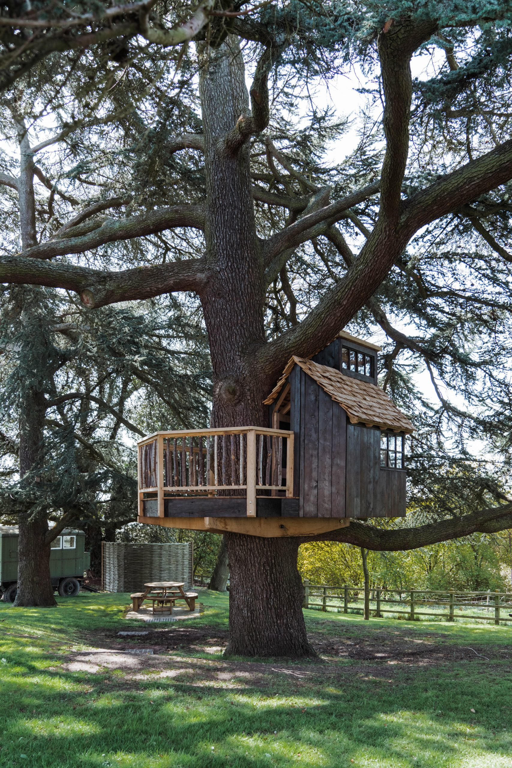 Treehouse by Sebastian Cox in the English countryside