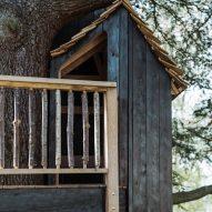 Balustrade made of chestnut wood