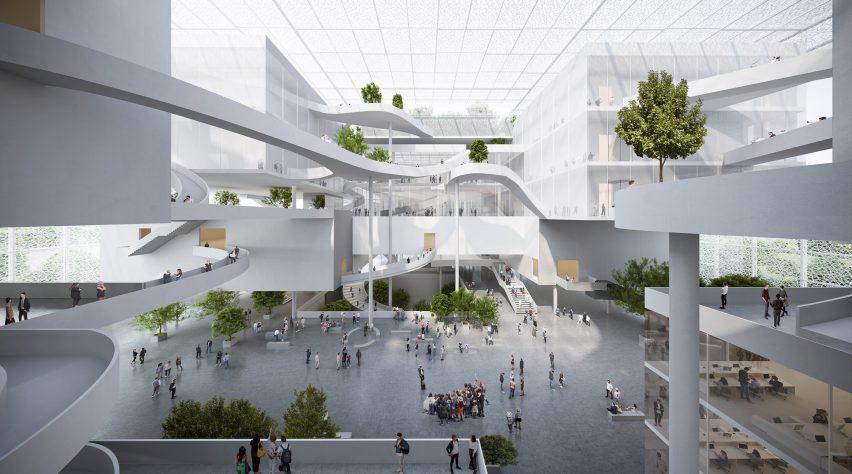 A multi-storey lobby