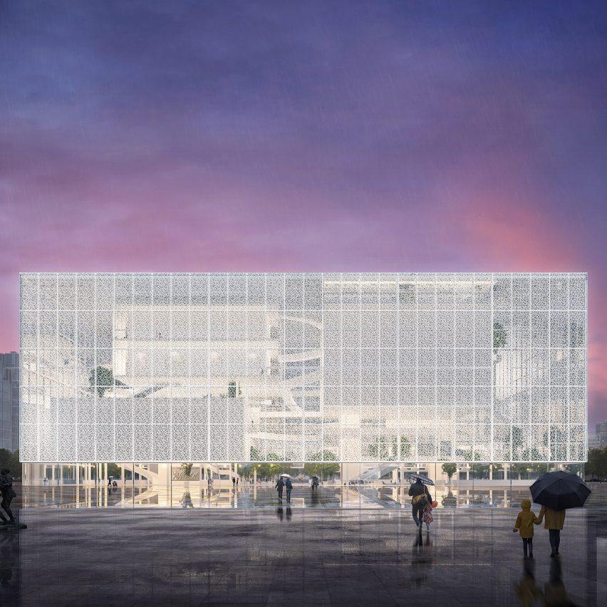 Sou Fujimoto designs Shenzhen exhibition complex with transparent facade