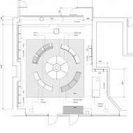 Plan for reMarkable pop-up store interior by Snohetta