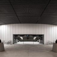 A foyer surrounds an auditorium