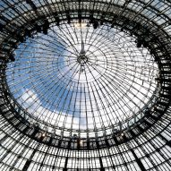 The glass domed roof has a steel structure