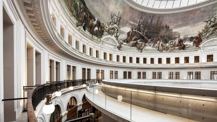 Interior view of the restored and redesigned rotunda