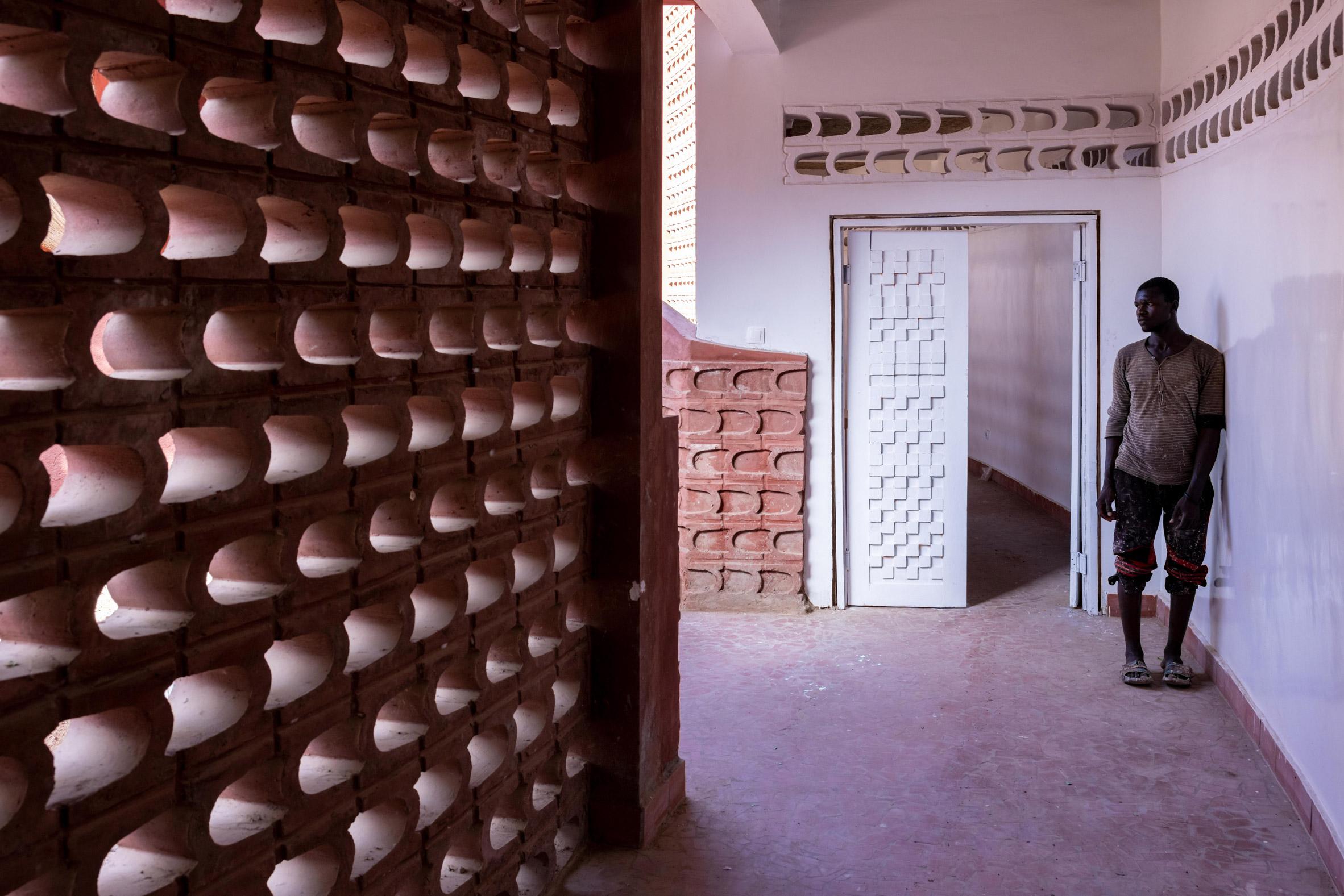 Door informed by Anni Albers weaving study