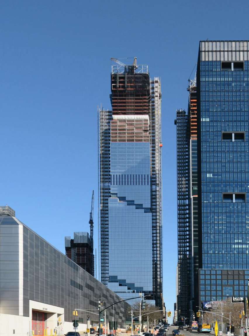 The Spiral under construction viewed from Hudson Yards