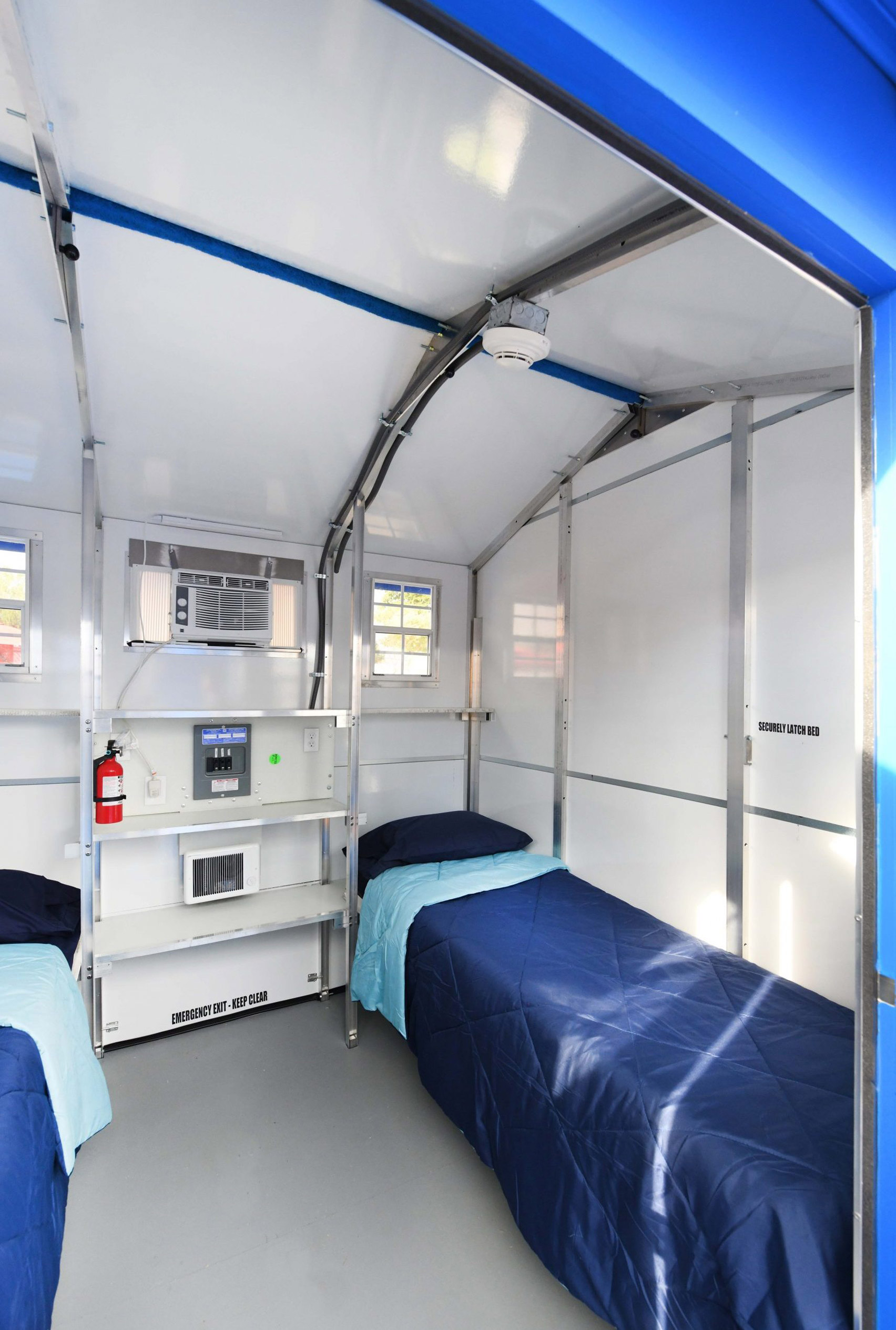 Inside a homeless shelter by Paller
