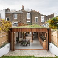 "Rear extension by Turner Architects contains ""cloister-like"" rooms built around a central courtyard"