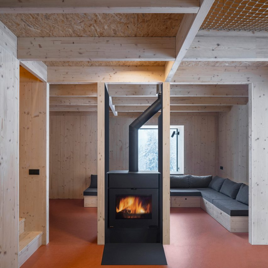 Fireplace in a holiday home