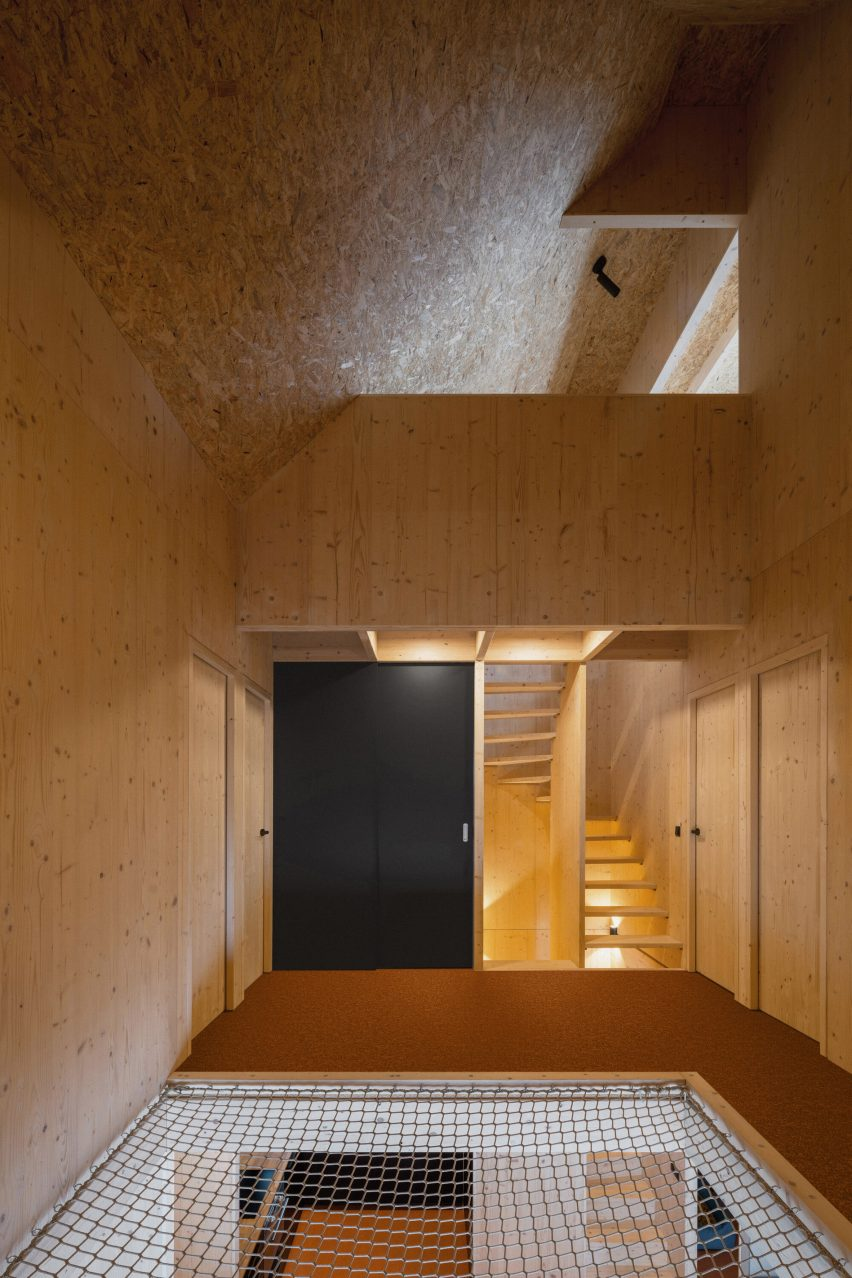 CLT interior of a holiday home