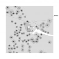 Site plan of Weekend House in Nové Hamry by New How