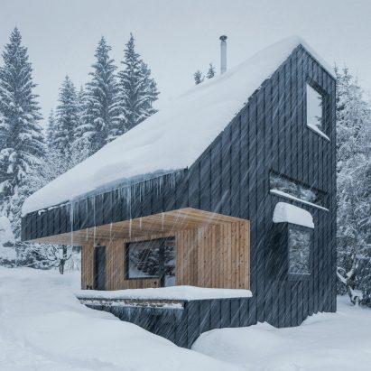 Weekend House is made from CLT timber panels