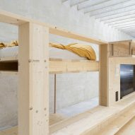 A sleeping area in a co-living housing prototype