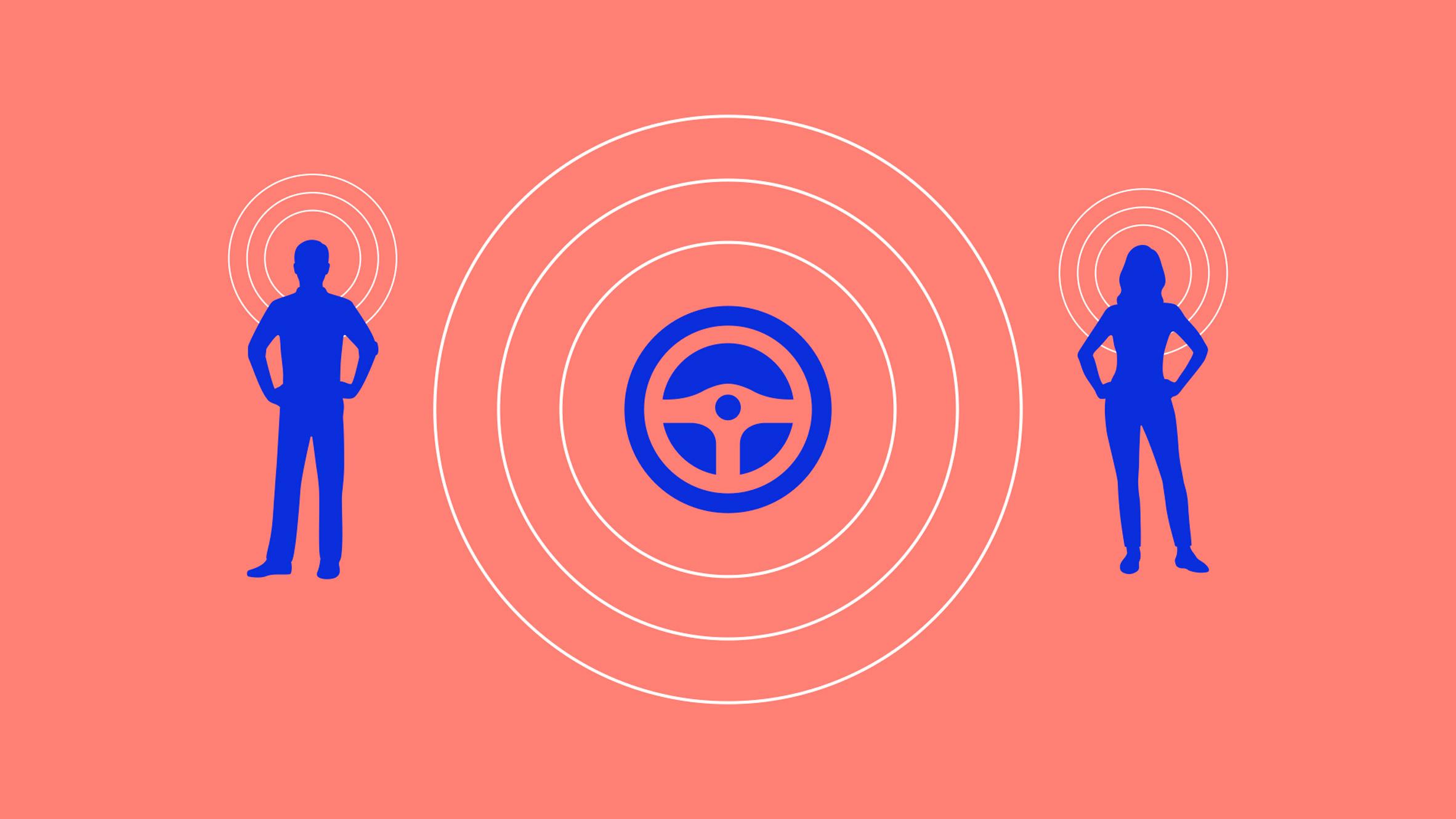 Graphic illustrating Yuri Suzuki's sound design for electric cars