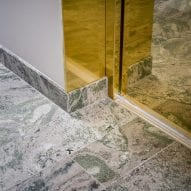 Marble was used throughout the interior