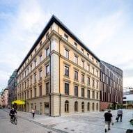 The original building has a regency look